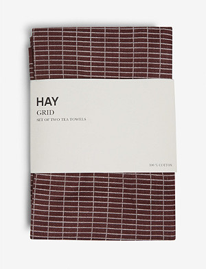 HAY Grid tea towels set of two