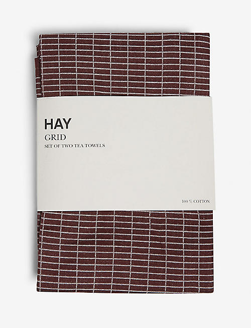 HAY: Grid tea towels set of two