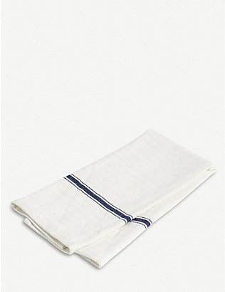 HAY: Striped-trim cotton tea towels set of two