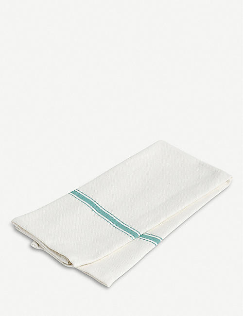 HAY Striped-trim cotton tea towels set of two