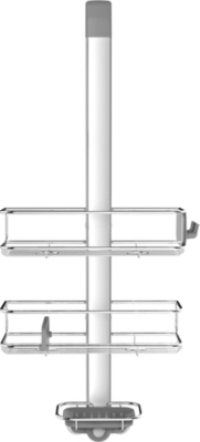 SIMPLE HUMAN Stainless steel and anodised aluminium over-door shower caddy
