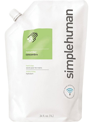 SIMPLE HUMAN Cucumber scented soap refill pouch 1L