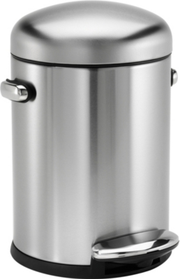 SIMPLE HUMAN Retro stainless steel pedal bin 4.5L