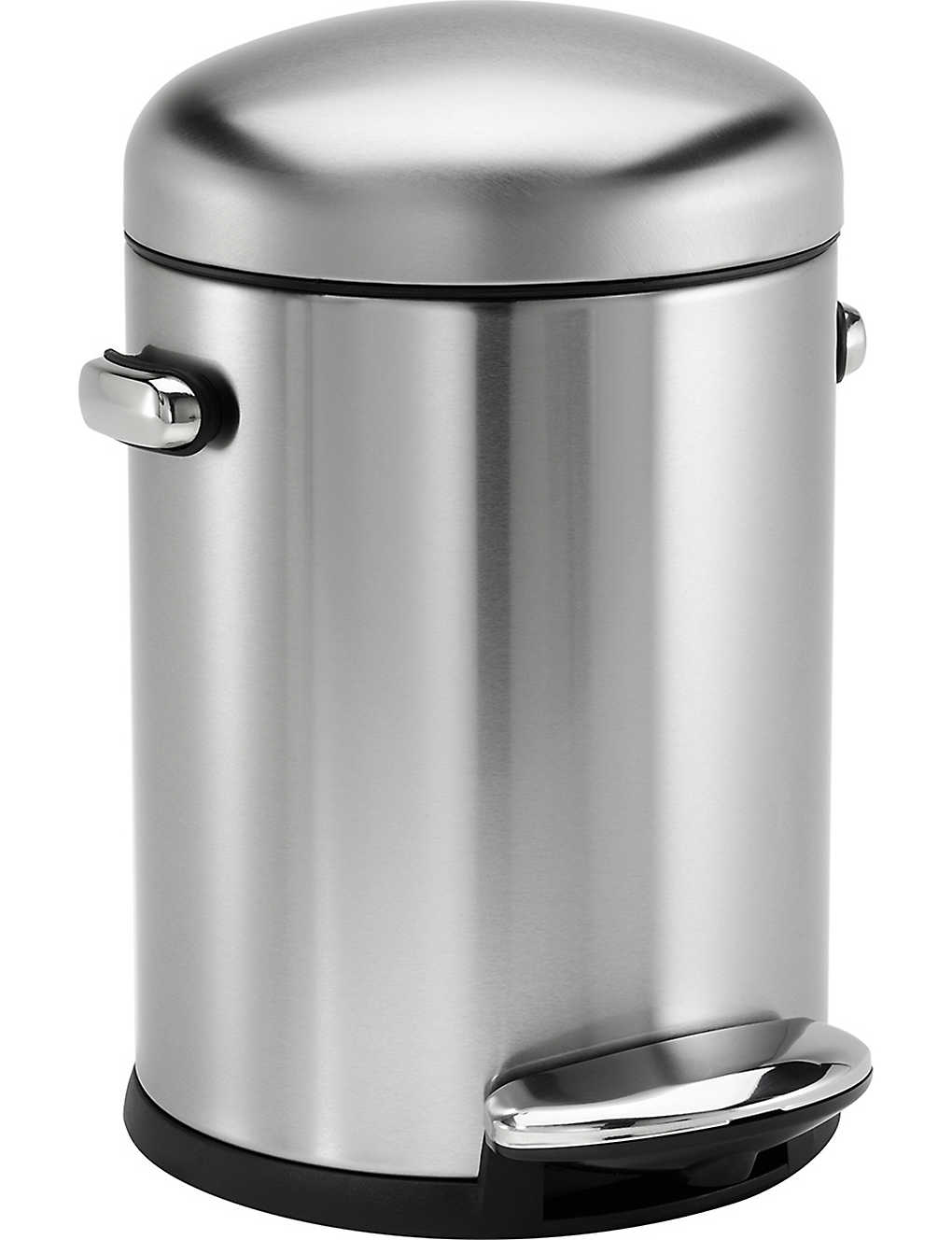 SIMPLE HUMAN: Retro stainless steel pedal bin 4.5L