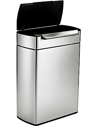 SIMPLE HUMAN: Touch-bar stainless steel recycling bin 48L