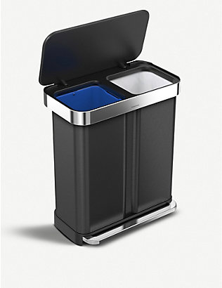 SIMPLE HUMAN: Recycler dual-compartment pedal bin 58l