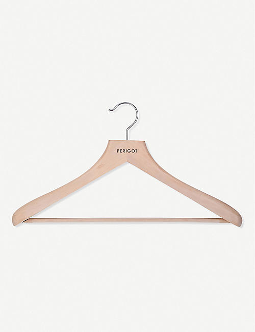 PERIGOT: Men's wooden clothes hanger