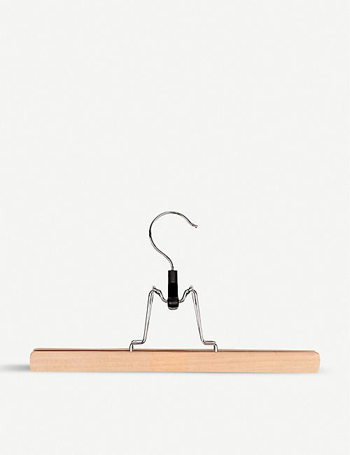 PERIGOT Waxed wood skirt hanger