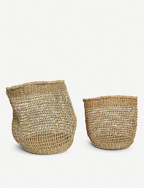 BLOOMINGVILLE Seagrass basket set of two