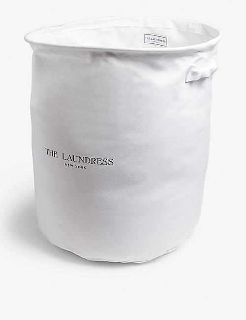 THE LAUNDRESS: Cotton canvas hamper