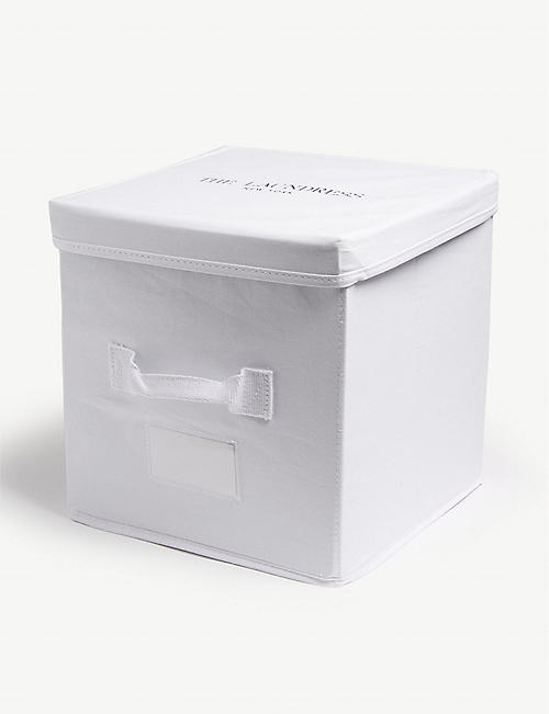 THE LAUNDRESS Cotton canvas storage cube