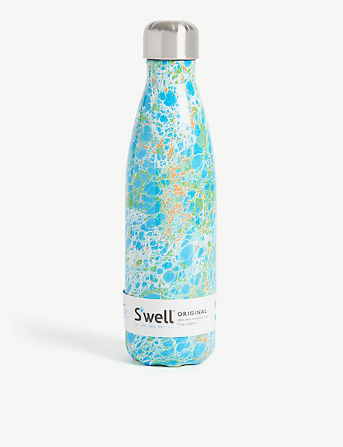 SWELL Guazzo marble-patterned stainless steel bottle 500ml