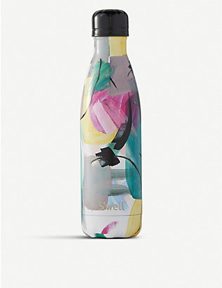 SWELL: Brush Strokes print stainless steel water bottle 500ml