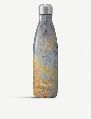 SWELL Golden Fury print stainless steel water bottle 500ml