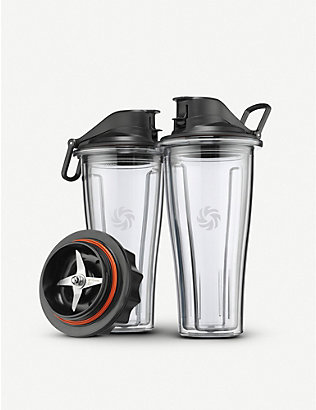 VITAMIX: Blending Cup Starter Kit set of two Eastman Tritan® cups and blade base