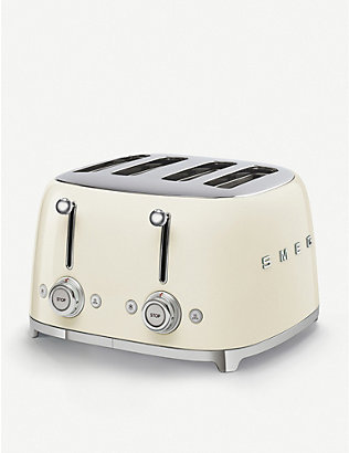 SMEG: Four-slice stainless steel toaster