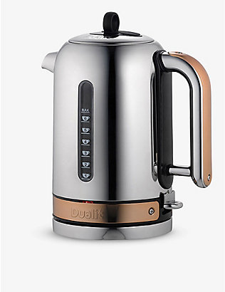 DUALIT: Chrome and copper classic kettle