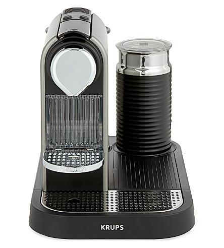 nespresso krups nespresso citiz coffee milk machine titanium. Black Bedroom Furniture Sets. Home Design Ideas