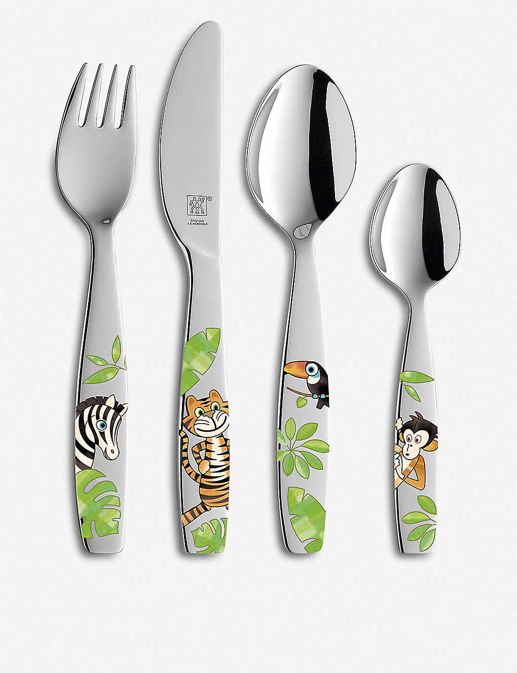 ZWILLING J.A HENCKELS: Jungle 4-piece children's stainless steel cutlery set