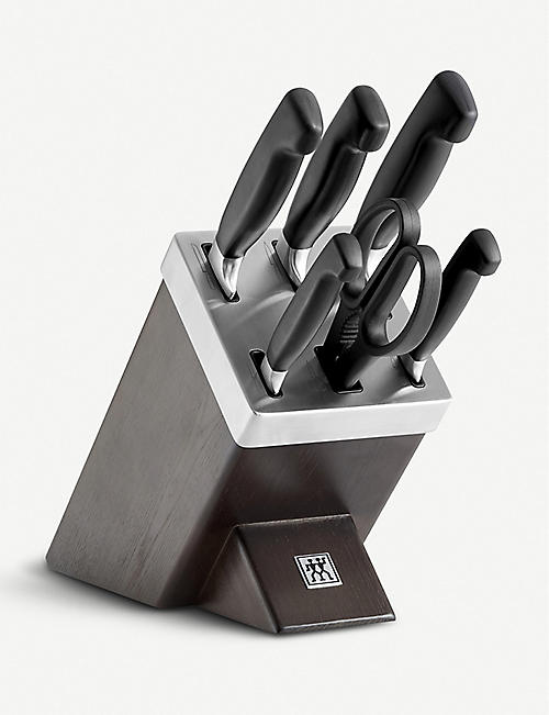 ZWILLING J.A HENCKELS Ash Wood self-sharpening knife block