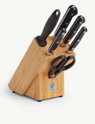 ZWILLING J.A HENCKELS Professional S knife block set of seven