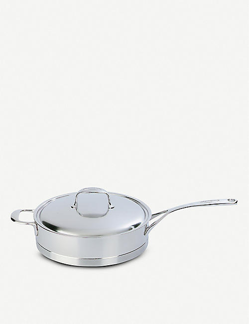 DEMEYERE: Atlantis low stainless steel sauté pan with lid 24cm