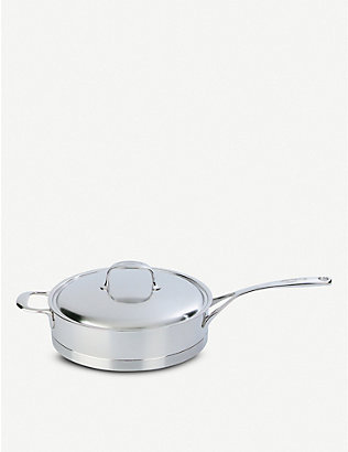 DEMEYERE: Atlantis low stainless steel sauté pan with lid 28cm