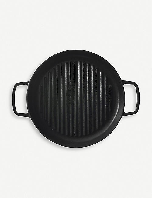CRANE COOKWARE Cast iron griddle pan 23cm