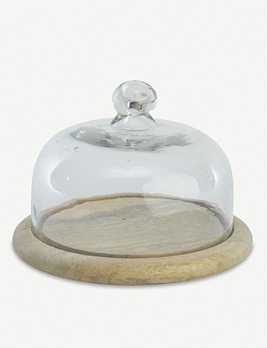 NKUKU Recycled glass bell dome 19.5cm