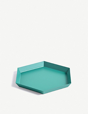 HAY Kaleido small steel tray 22x19cm
