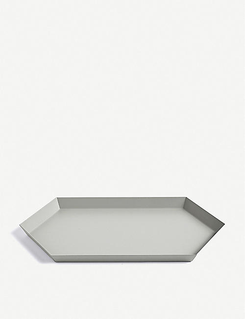 HAY: Kaleido medium steel tray 33.5x19.5cm