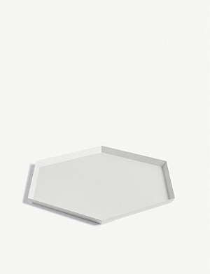 HAY Kaleido extra large steel tray 45x39cm