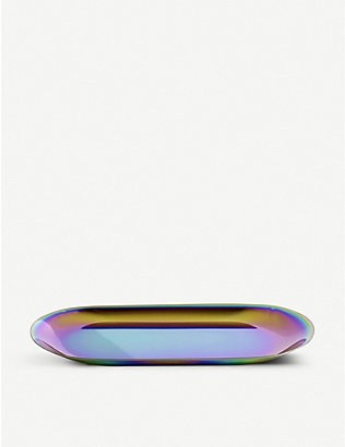 HAY: Rainbow large iridescent stainless steel tray 23cm