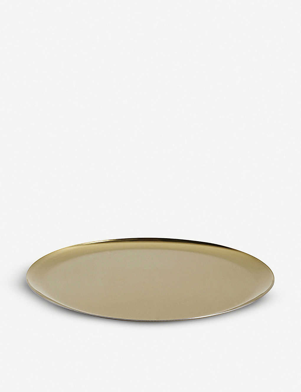 HAY: Gold-toned steel serving tray 28cm