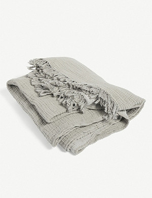 HAY Crinkle Plaid cotton throw 210x150cm