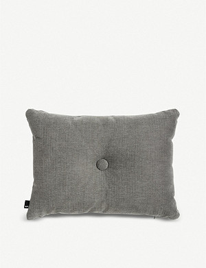 HAY Soft dot cotton-linen blend cushion 60x45cm