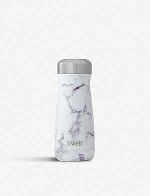 SWELL White marble traveller bottle 450ml