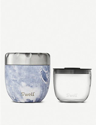 SWELL: Eats 2-in-1 stainless steel food bowl 454ml