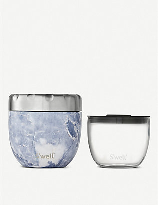 SWELL: Eats 2-in-1 stainless steel food bowl 610ml