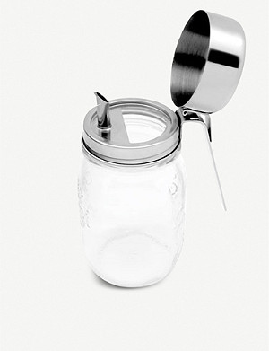 HAPPYTAPPI Jar with oil pouring lid 500ml