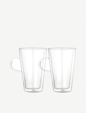 BODUM Canteen double wall glasses large x 2