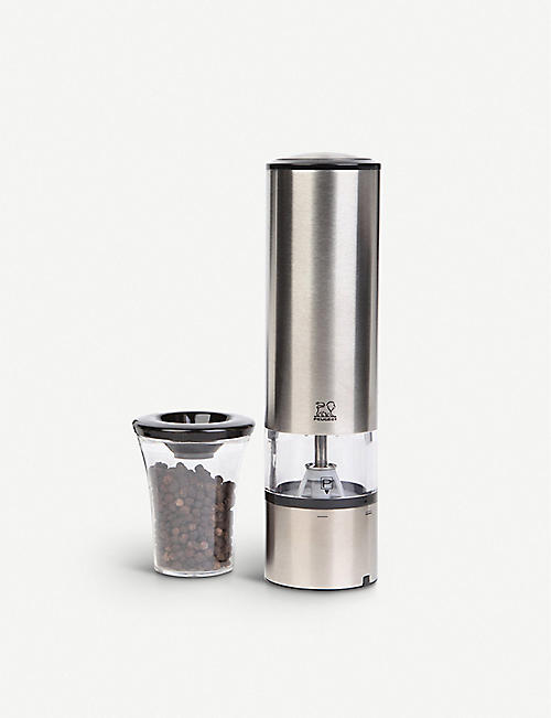 PEUGEOT: Elis Sense U'Select stainless steel electric pepper mill 20cm