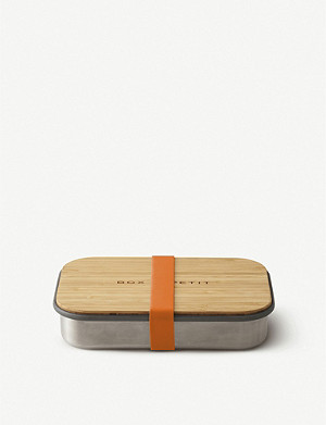 BLACK+BLUM Stainless steel and bamboo sandwich box