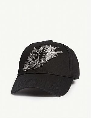 MCQ ALEXANDER MCQUEEN - Triangle logo cotton snapback cap ... 7c9512890323