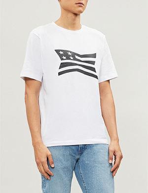 CALVIN KLEIN JEANS - Logo-print cotton-jersey T-shirt   Selfridges.com d1e4800275