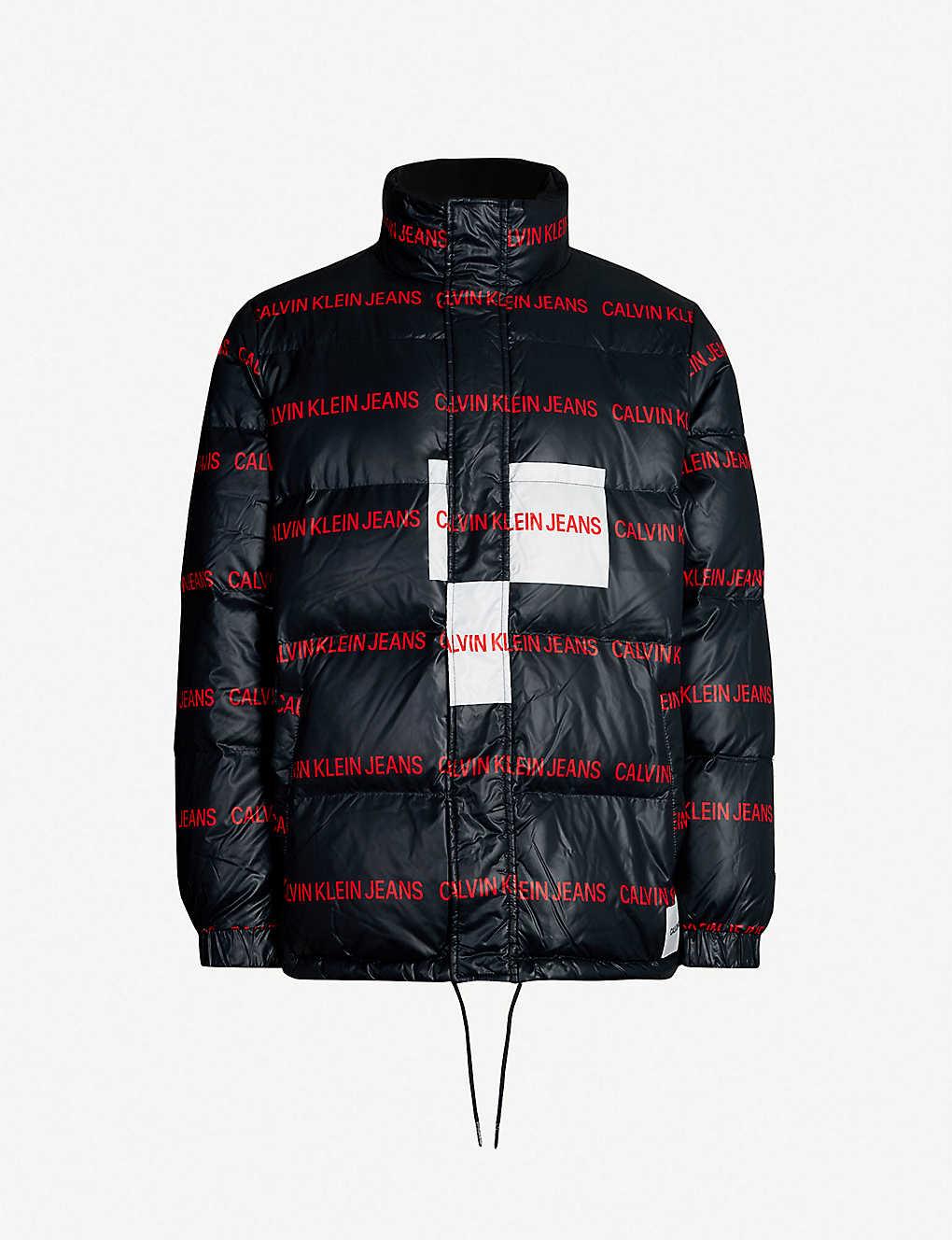 6d2db385d376 CALVIN KLEIN JEANS - Logo-print shell-down jacket