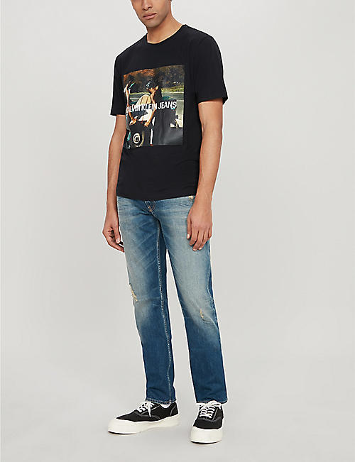 CK JEANS Photo-print cotton-jersey T-shirt