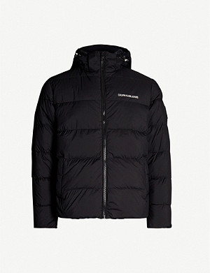 CK JEANS Hooded shell-down puffer jacket