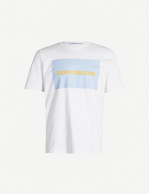 CK JEANS Logo-print cotton T-shirt