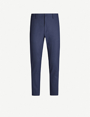 CLOSED Atelier mid-rise tapered wool-blend trousers